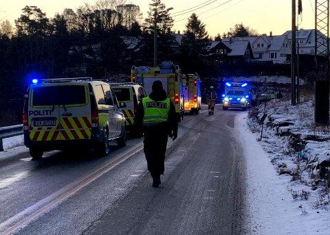 ULYKKE: Uhellet har skjedd på hovedveien mellom Djupadalen og Skåredalen.