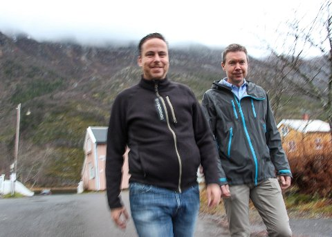 Eolustoppene Per Witalisson (t.v.) og Mattias Törnkvist har jobbet lenge med å finne en finansiell partner for vindkraftverket ved Mosjøen.