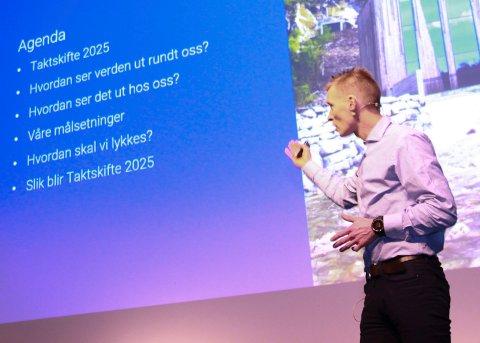 En engasjert Eivind Mikalsen snakket varmt om framtida og framtidas muligheter.