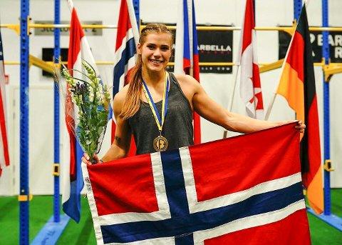 SISTE SESONG: I VM i Functional Fitness i Malmø 2019 ble Matilde Øyen Garnes nummer tre individuelt. Norge vant lag-VM som året før.