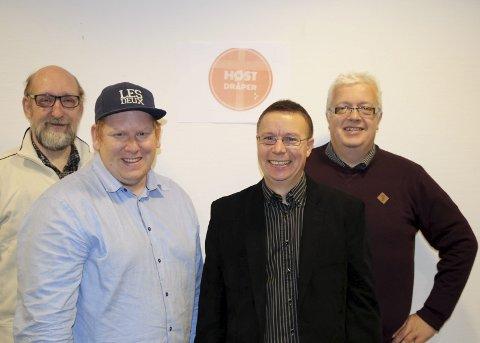HØSTGULL: Helge Dannemark, Fredrik Tanke Arstad, Håvard Haug og Jan Erik Stensrud ønsker å starte en ny festivaltradisjon i oktober.
