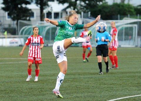 STARTER: Matilde Alsaker Rogde er en av de 11 utvalgte for Klepp i bortekampen mot Lyn.