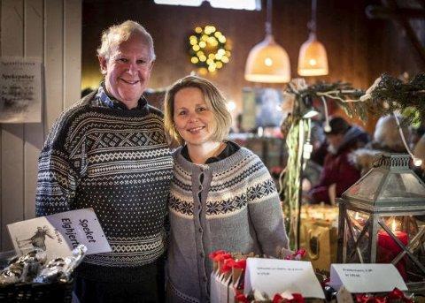 FLERE GENERASJONER: Birgit Hårtveit og svigerfar Terje Sandholtbråten både bor på samme gård og jobber sammen på Smedstuen gård.