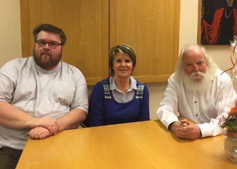 TOPPEN: Kai Isaksen, Solfrid Rui Slettebakken og Johan Tønnes Løchstøer innehar de tre øverste plassene på Kragerø Venstres kommunevalgliste.