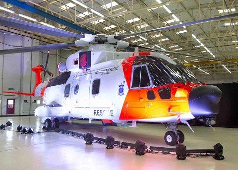 HELIKOPTER: Kongsberg Gruppen er sikret arbeid kommende 30 år gjennom en omfattende avtale om vedlikehold av helikoptre. Foto: KOG