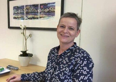 GANSKE FORNØYD: Styreleder i Amedias aviser i Lofoten, Marit Skog, er fornøyd med at opplagsinntektene til Lofotposten og Lofot-Tidende økte i fjor.