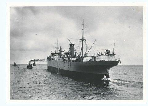 Frakteskip: Norvard gikk i fart som frakteskip før tyskerne kapret skipet. Natten til 29.desember for 75 år siden ble skipet bombet i Mossesundet.