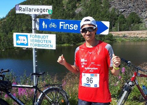 Suveren vinner: Takket være fantastisk innsats på den 54 kilometer lange åpningsetappen fra Flåm og til Finse skaffet mossingen Håkon Urdal seg et forsrpang som ingen klarte å innhente.