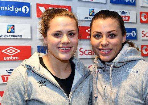 GJENFORENT FOR NORGE: Thea og Nora Mørk skal igjen spille sammen igjen - denne gangen med flagget på brystet.