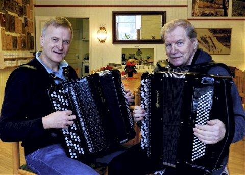 Tre konsertar: Dag Gården og Jostein Simonsen begynner den vesle turneen i Ullinsvin 20. februar. Foto: Privat