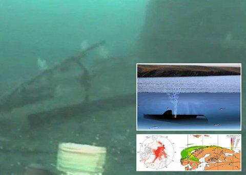 Her er K-27 fotografert på havbunnen i 2012.