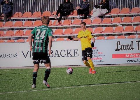 SEIER: Markus Aanesland avgjorde i generalprøven. 2-1-målet kom mens Raufoss hadde en mann mindre på banen.