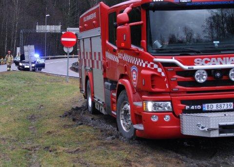 LUKTET SVIDD: Nødetatene rykket ut etter mulig brann i bil.