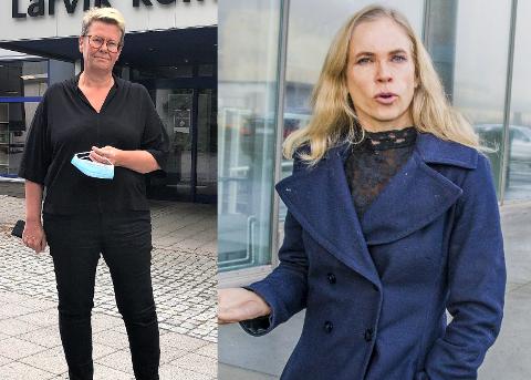 KRITISK: Høyres gruppeleder Birgitte Gulla Løken (t.h.) er sterkt kritisk til at kommunedirektør Gro Herheim nå varsler at hun vil se på vedtaket om å rehabilitere Stavern skole for 50 millioner kroner på nytt.