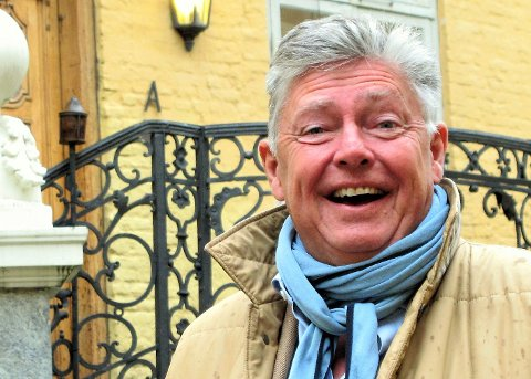 SLAGET VUNNET: Bildet av Ole Rikard Høisæther ble tatt for halvannet år siden da prosessen med å redde Den gamle krigsskolen begynte. Begeistringen tyder på at han allerede da var optimist.