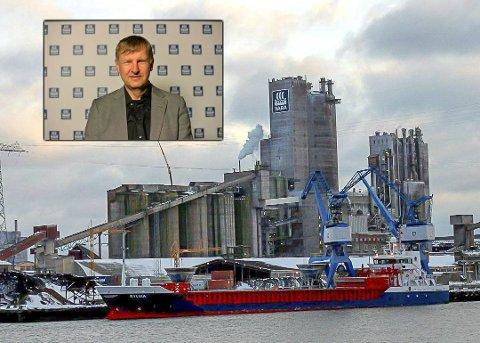 TIDLIG: – Gode nyheter, men prosjektet er på et veldig tidlig stadium, sier fabrikksjef i Porsgrunn, Jon Sletten.