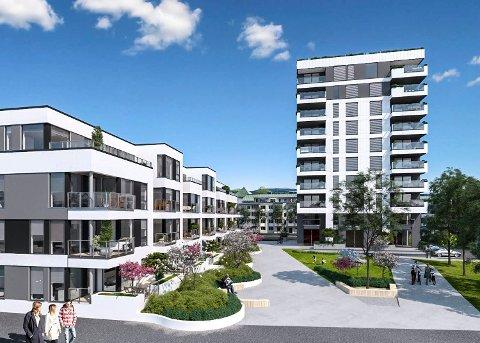 Fire av de 20 leilighetene i høyblokka i Kaupangkvartalet er solgt etter en uke på markedet.