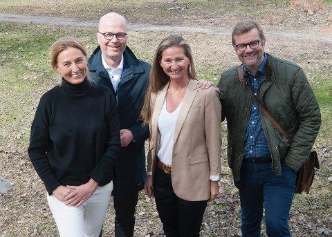 Trine Gabor ble gjenvalgt som styreleder. – Hun er en viktig ressurs og gjør en god jobb, sier daglig leder Trine Rimer og styremedlemmene Per Brochmann og Hans Petter Skjæran. Foto: Rami A. Skonseng.