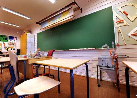 Det er ingen elever igjen på øya og i kommunen under ett, er det per dags dato under 40 skolebarn igjen. Illustrasjonsbilde: Øyvind Bratt