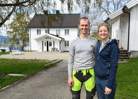 Bygger drømmen: Norunn Kogstad og Ole Kaare Lunde kom til Lundehagen gård i 2012. Siden da har ekteparet brukt mye tid og penger på å pusse opp. Når går de løs på et enda større prosjekt, en stor ridehall.