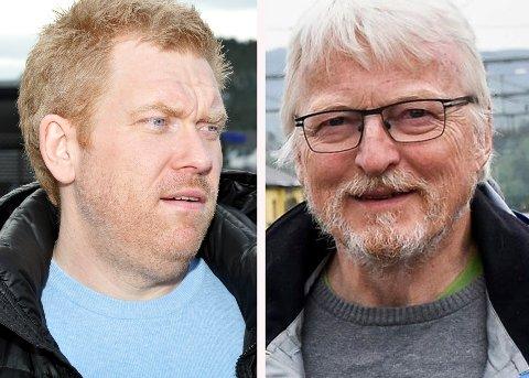 VANSKELIG Å TRO: Bjørn Tore Ødegården og Lars Olsen reagerer begge med vantro på bevilgningene til Ringeriksbanen og E16 i statsbudsjettet.