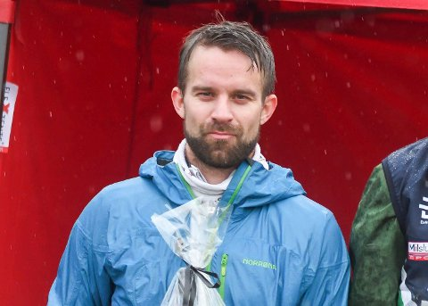 KREATIV LØSNING: Geir Olav Larsen, her etter Eggemomila, fikk en kreativ ide da Ringkollen Skiklubb skulle arrangere klubbmesterskap.