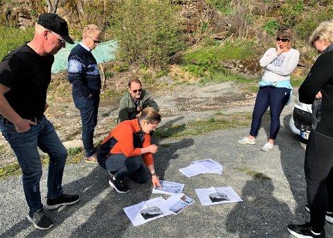 BEFARING: Hole Høyre på befaring på Utøyakaia.