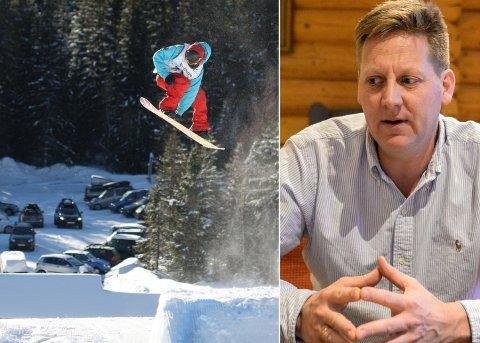 HOLDER ÅPENT: Pelle Gangeskar, styreleder i Haugsbygd IF Adrenalin, forteller at de holder heisen åpen på Ringkollen hver dag.