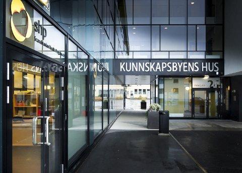 KUNNSKAPENS HUS: Kunnskapsbyen Lillestrøm holder til i 4. etasje på Kunnskapens Hus på Kjeller.