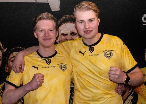 KLARE FOR LSK: Martin Larsen (t.v.) og Martin Ottinsen Thuve skal spille for Lillestrøm i Eserien 2019.