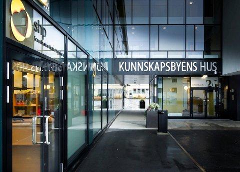 Vekk herfra: Her har Kunnskapsbyen Lillestrøm lokaler, i Gunnar Randersvei. 24 på Kjeller. Nå vil organisasjonen vekk herfra.