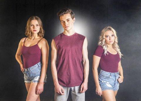 Ungdommelig dans: Marie Guldteig, Liam Solbjerg og Ingeborg Walther har sentrale roller når «Fame» får premiere på Sarpsborg scene 13. april.