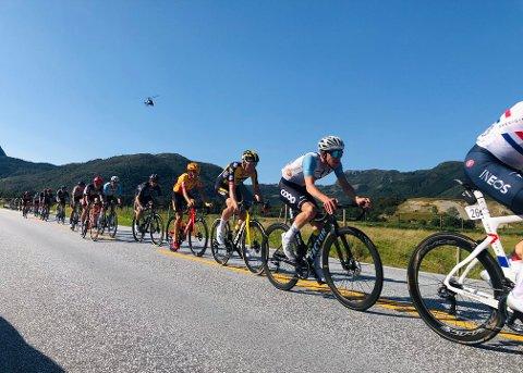 I toppen: Kristian Aasvold hang med helt i toppen av Tour of Norway og endte tilslutt på en sjetteplass i sammendraget.