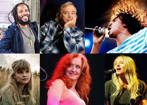 PÅ PROGRAMMET: Ziggy Marley, Gunnhild Sundli fra Gåte, Ry Cooder, Bonnie Raitt, Timbuktu og Lissie er bare noen av artistene du kan oppleve i Telemark i sommer.
