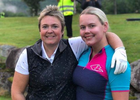 HISTORISKE: Mor og datter Heid og Ragnhild Snekvik vant den aller første utgaven av Surnadal Golf Maraton. Etter solid spilling gjennom tre hele runder og til sammen 23 kilometer ganging, vant de til slutt ganske overlegent foran Tove Hilstad Garte og Siri Vaagland.