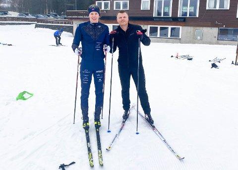 TRENINGSKOMPISER: Eirik Mysen og John Arne Riise har trent sammen i Storås den siste tiden.