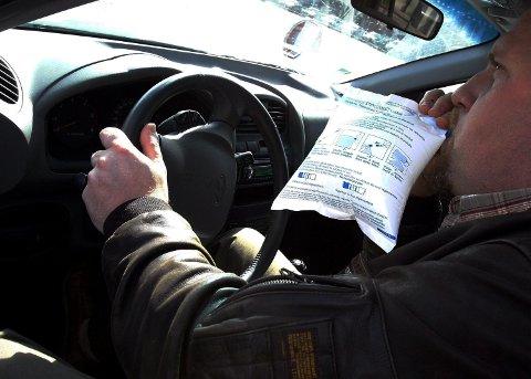 SJEKKET PROMILLE. Politiet sjekket promille. (Illustrasjonsfoto).