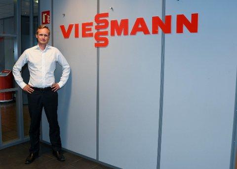 NY MANN: Kenneth Kløw er ny sjef for Viessmann Norge på Borgeskogen.