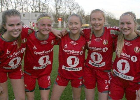 Mål: Amalie Hamm Thue (2), Heidi M. Riise (2), Iris Mæhle (2), Sara Myhre og Emilie Aspaas.foto: torbjørn larsen