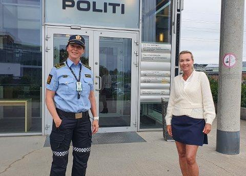 RÅD : Politioverbetjent Solveig Aarvik Kjeserud og SLT-koordinator i Nordre Follo kommune  Randi Driessen Marthinsen oppfordrer foreldrene å si til barna hva de ikke synes er greit.
