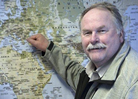 INTERNASJONALT: Den nye virksomhetslederen på Internasjonal avdeling Per Kvarsvik. Majoren har blant annet bak seg 40 år inn og ut av forsvaret inntil han leverte inn utstyret i november.