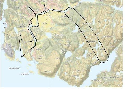 FLOMTILTAK: Det kan bli aktuelt med tunnel «oppstrøms bebyggelsen» inn i fjell fra Prestbro som får utløp i Jøssingfjord.  Foto: SKJERMDUMP FRA SOKNDAL KOMMUNES HJEMMESIDE
