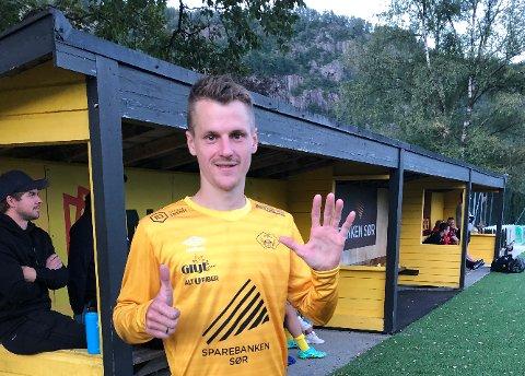 Joakim Ødegård har scoret 14 av Hovsherads 40 mål så langt i sesongen.