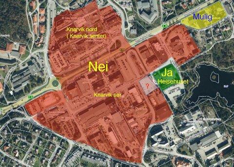 NEI: Knarvik senter hevdar «ingen» vil bygga i Knarvik dei næraste fem-ti åra.