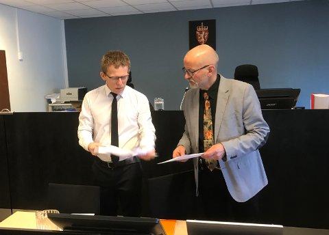 Statsadvokat Jan-Inge Wensell Raanes og psykologspesialist Knut Dalen.