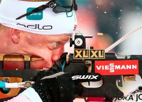 Vinner Johannes Thingnes Bø under sprint menn i VM Skiskyting 2019 i Östersund, Sverige.
