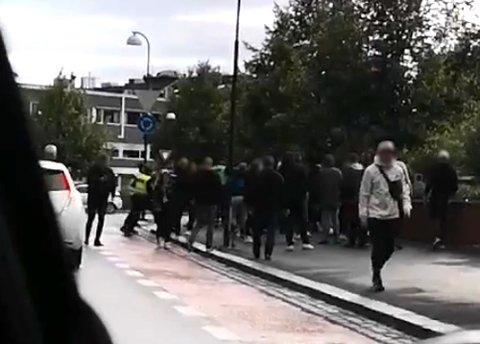 En kvinne skal ha blitt slått i Lillestrøms gater før LSK-Brann. FOTO: Romerikes Blad-TIPSER