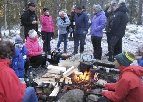 Populært: Mange hygget seg på turer til skiforeningens bål i Enebakk.skogen i fjor vinter.foto: skiforeningen
