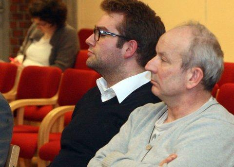 I SÆRKLASSE:  Hilmar Eliassom og Jacob Nødseth står i ei særklasse i bystyret når det gjeld innlegg og interpellasjonar .