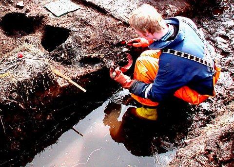 Arkivfoto av arkeolog Morten Ramstad.